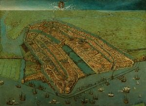 1538 Amsterdam map by Cornelis Anthonisz